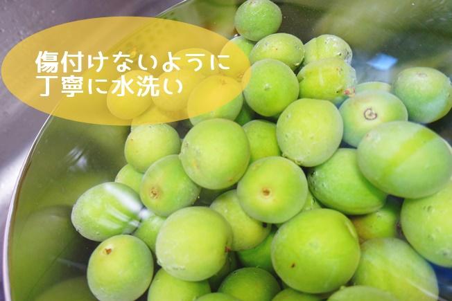 梅シロップの作り方 水洗い