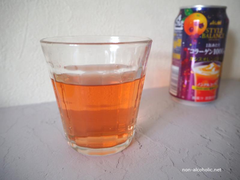 スタイルバランスカシスオレンジテイスト グラスに注いだところ